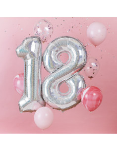 kit-ballon-18-ans-chiffre-irise avec-6-ballons-latex