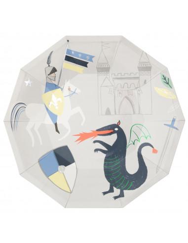 8-grandes-assiettes-chevalier-et-dragon-meri-meri-decoration-anniversaire-chevalier