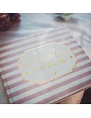 Livre d'Or Rose Blanc Or Petite Merveille Fille Baby Shower Fille