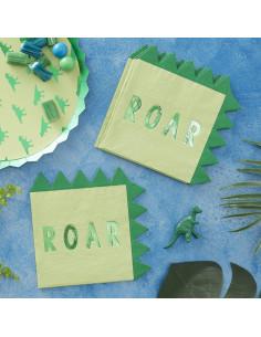 16-serviettes-vertes-dinosaures-roar-decoration-anniversaire-dinosaures