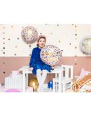 Ballon Aluminium Rond Fleurs Happy Birthday Déco Anniversaire Fille