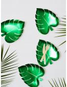 8 assiettes feuilles de palme vertes Meri Meri