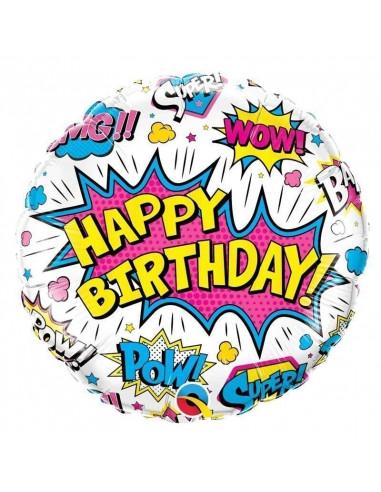 ballon-rond-super-heros-blanc-en-aluminium-decoration-anniversaire-super-heros-fille