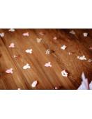 100 confettis body rose