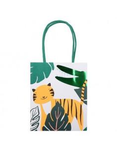 8 sacs cadeaux invité thème Jungle meri meri